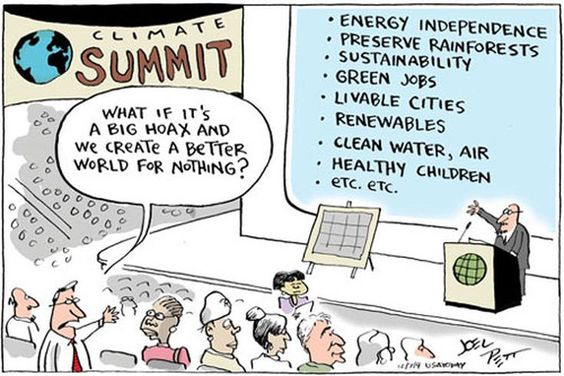 """A comic reads, """"What if it's some big hoax and we create a better world for nothing?"""""""