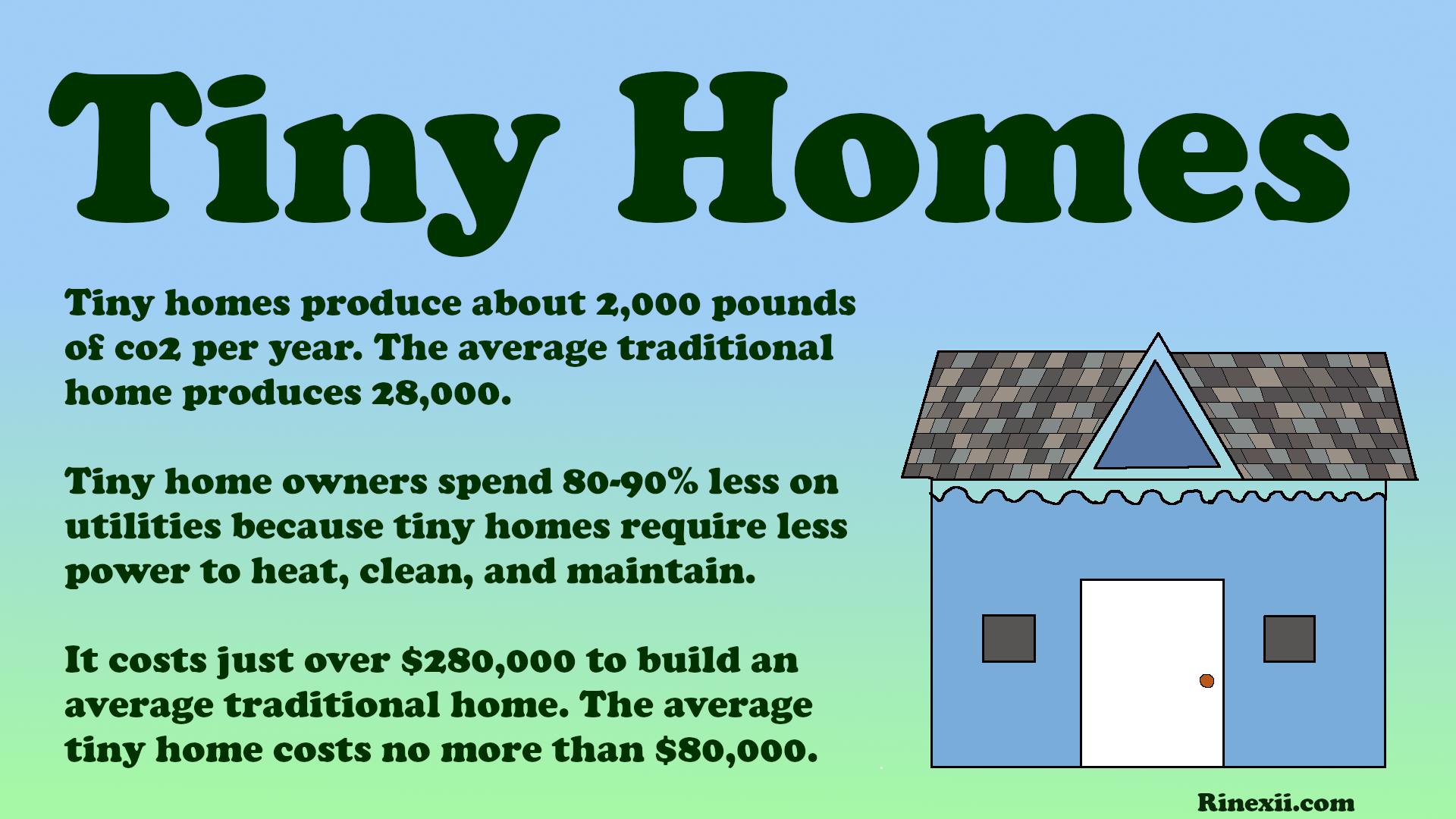 An infograph on tiny homes
